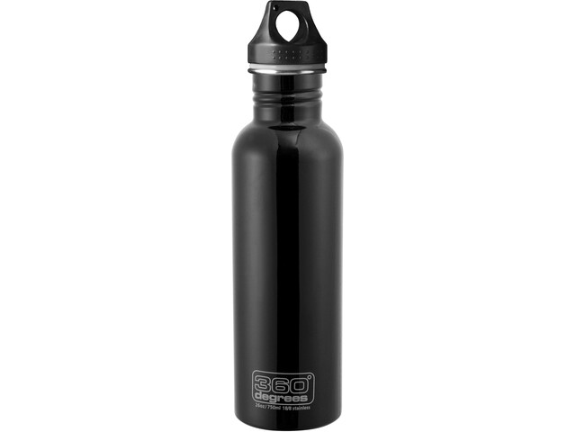 360° degrees Stainless Bidon 750ml, black